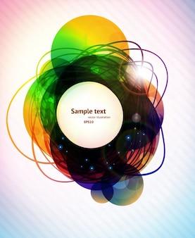 Swirl digital cloud abstract print