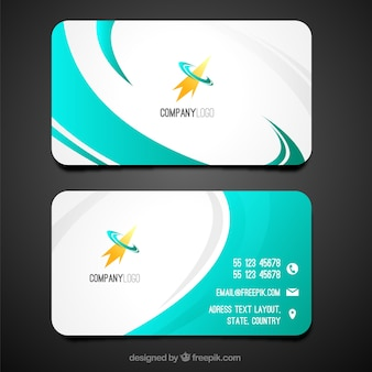 Swirly business card template