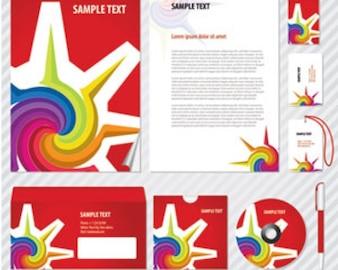 swirly sun in a company image design in red