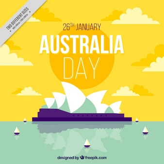 Sydney opera house background for australia day