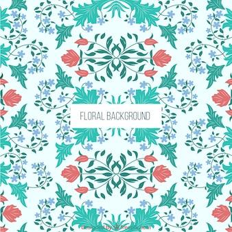 Symmetric floral background
