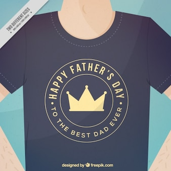 T-shirt of father's day background