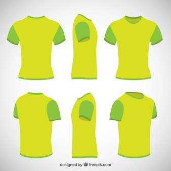 T shirts in lime green color