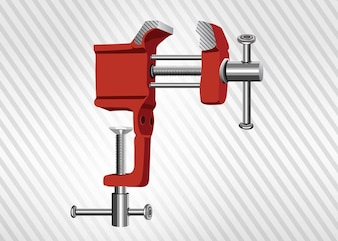 table clamp vice in red
