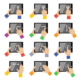 Tablet icons collection