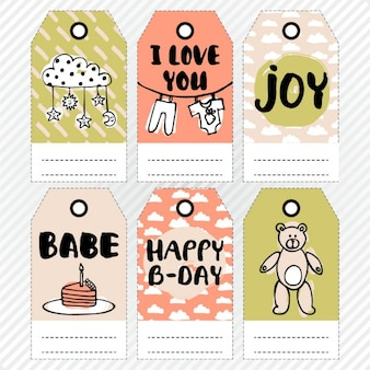 Tags for baby shower