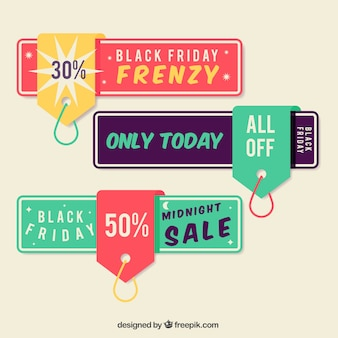 Tags stickers with black friday