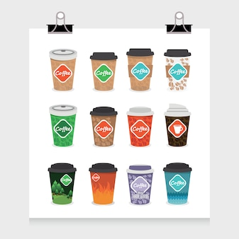 Take away coffee cups collection