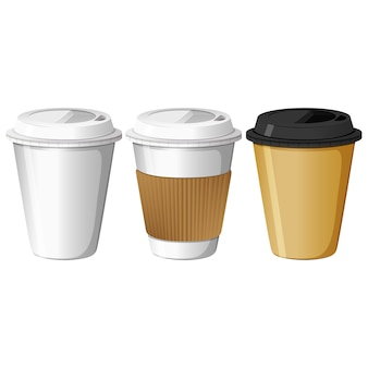 Take away coffee cups