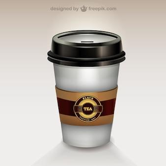 Takeaway tea vector free