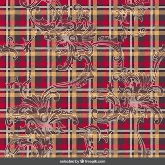 Tartan pattern with ornaments