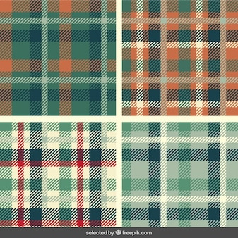 Tartan patterns set