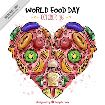 Tasty heart for world food day