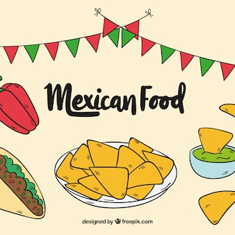 Tasty mexican food background