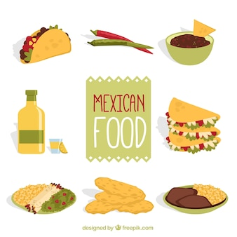 Tasty mexican food pack