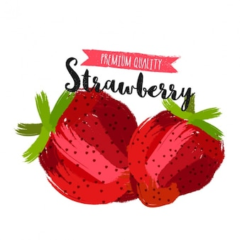 Tasty strawberries background