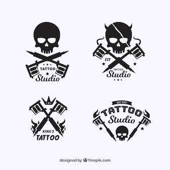 Skull vectors photos and psd files free download for Tattoo style logo design