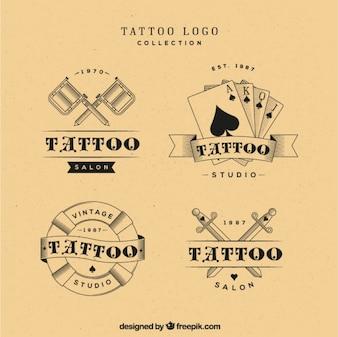Tattoo logos selection, vintage