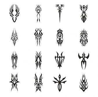 Tattoo theme vectors collection