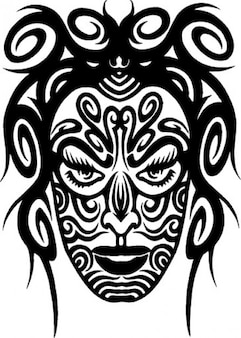 Tattooed frontal face