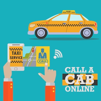 Taxi background design