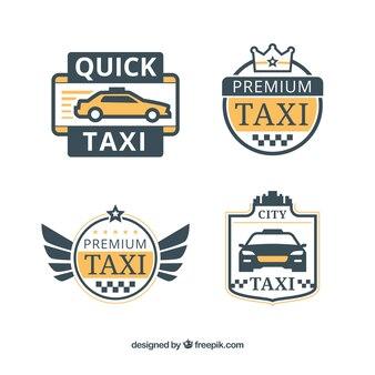 значки такси в плоском стиле