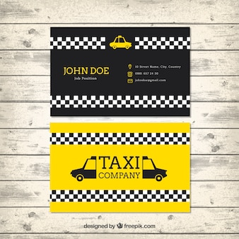 Taxi card template in modern style