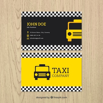 Taxi card template