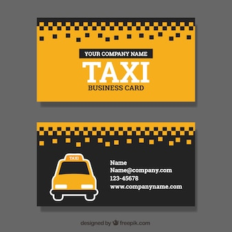 Taxi service, business card