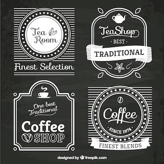 Tea and coffee shop logos