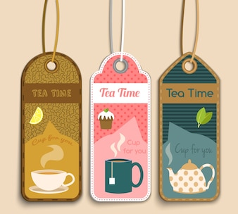 Tea labels collection