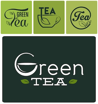 Tea logos collection