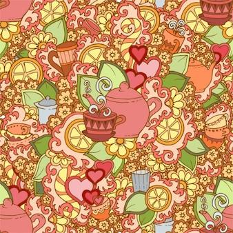 Tea pattern design