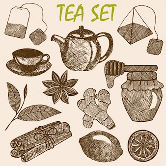 Tea set design