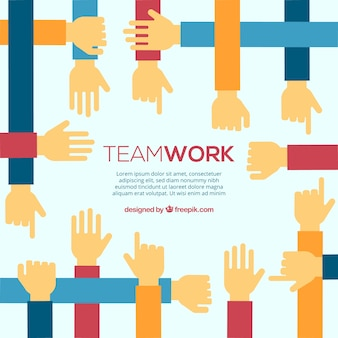 Team work background design