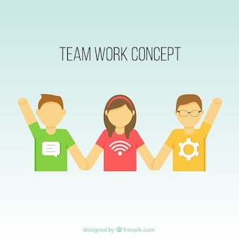 Team work concept avatars