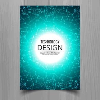 Tech blue brochure