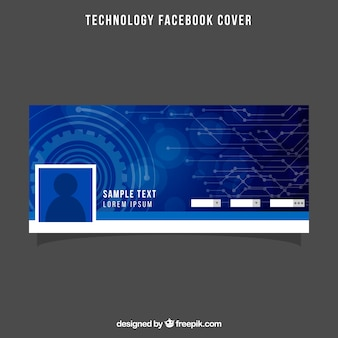 Tech blue facebook cover