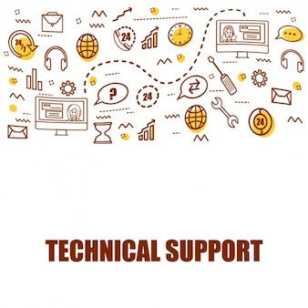 Technical support background