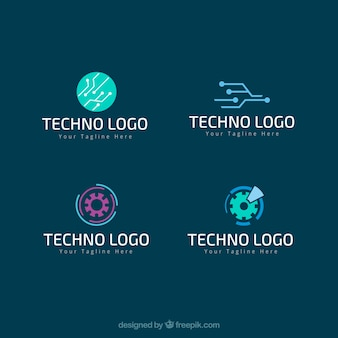 Techno logos pack