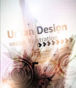 Techno template clean presentation graphic