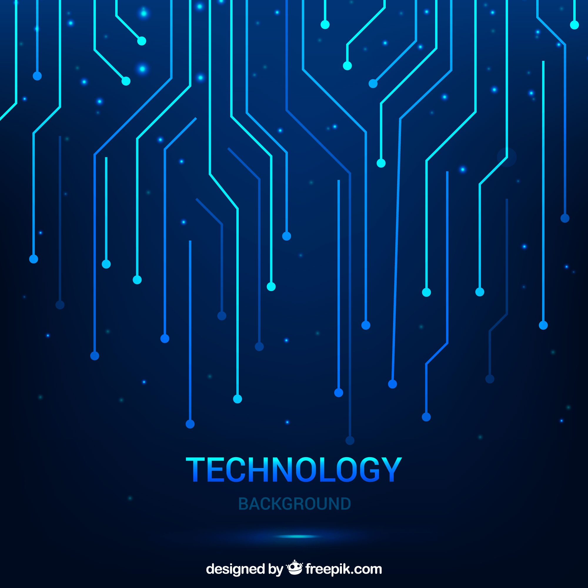 Technological background with lines