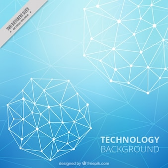 Technological background with polygonal shapes