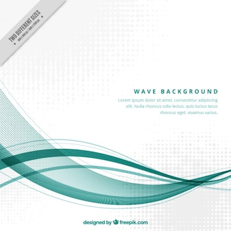 Technological background with wavy shapes