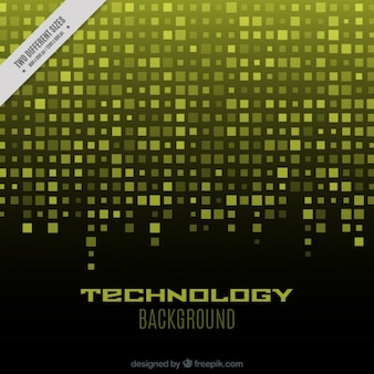 Technological background with yellow squares