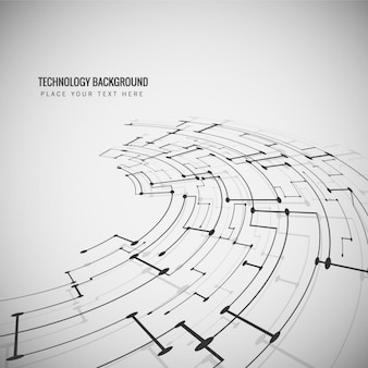 Technological circular background