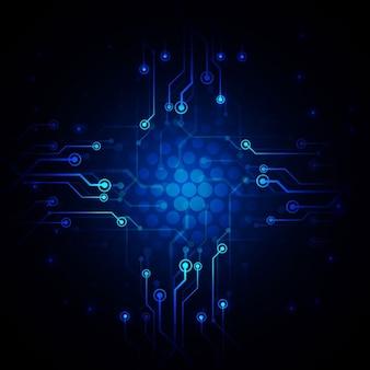 Technological dark background