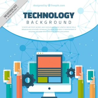 Technological devices background