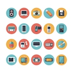 Technological devices icons collection