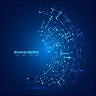 Technological elegant blue background